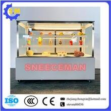 Квадратный холодильник для тортов стеклянный чехол дисплея Холодильный