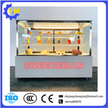 Square cake refrigerated display case Glass commercial air cooling fresh keeping cabinet Freezer fruit refrigerator