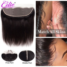 Celie Hair HD Lace Frontal Closure 13x4 HD Frontal Transparent Human Hair Closure Brazilian Straight Hair 5x5 HD Lace Closure