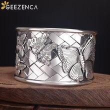 999 Изящные серебряные тайские плетеные браслеты ручной работы