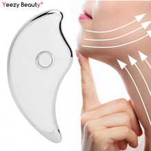 Electric Scraping Plate Face Lifting Massager Micro-current Vibrator Gua Sha Machine Facial Massage Tools EMS Board