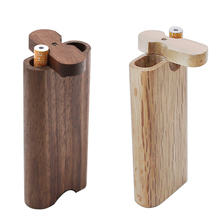 Wood Dugout One Hitter Set Smoking Pipe Wooden Stash Box With Cleaning Tool