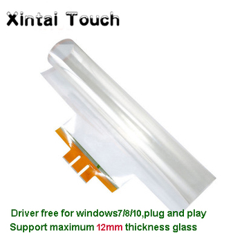 27 16:9 format real 10 points transparent capacitive usb touch foil film with low price and high qualiy with Bottom Tail promotion best price 84 real 6 points lcd interactive touch foil film through glass shop window for touch kiosk table etc
