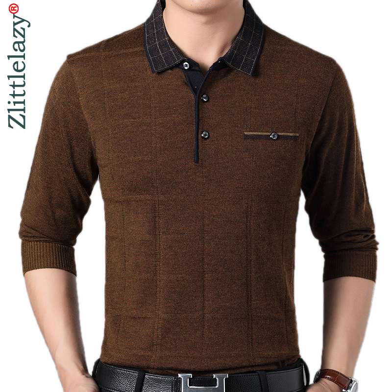 2019 Brand Casual Button Fitness Long Sleeve Polo Shirt Men Poloshirt Jersey Solid Mens Polos Tee Shirts Dress Fashions 81053