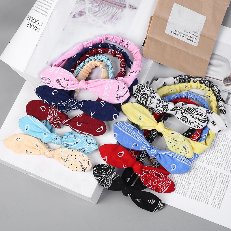 New Women Suede Soft Solid Print Headbands Vintage Cross Knot Elastic Hairbands Bandanas Girls Hair Bands Hair Accessories