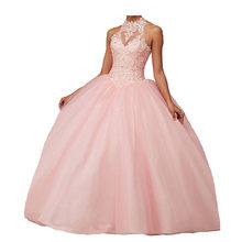 CharmingBridal – robe de bal perlée, 16 pièces, sans manches, col licou, taille basse, bal de fin d'études