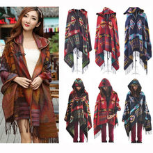 Frauen Pullover Strickjacke Frauen Winter Gestrickte Kaschmir Poncho Capes Schal Strickjacken Pullover Mantel Pullover Frauen Winter(China)