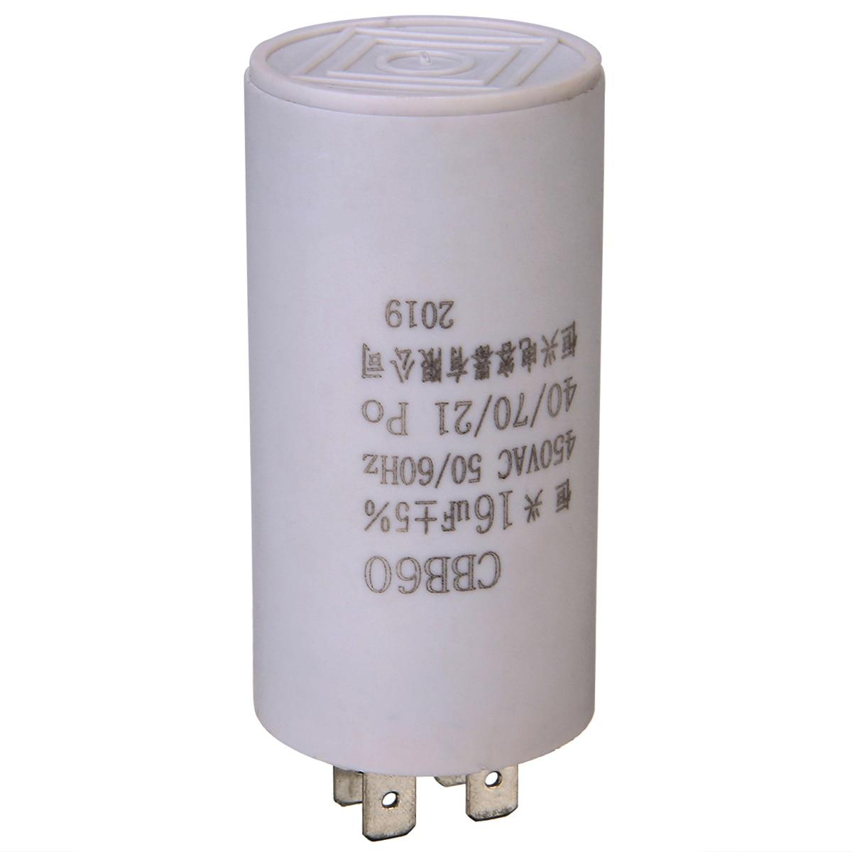 1Pc Washing Machine CBB60 16uF AC450V 5/% Non Polar Motor Capacitor DT