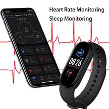 M5 relógios inteligentes banda esporte rastreador de fitness pedômetro freqüência cardíaca monitor pressão arterial bluetooth pulseira m5