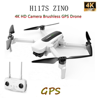 Hubsan H117S Zino RC Drone 4K UHD Camera 5.8G WIFI GPS FPV Brushless Drone Foldable 3 Axis Gimbal Quadcopter Drone RTF High Spee
