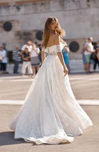 Image 3 - Real Photo Berta Sweetheart Hals Shiny Lace Trouwjurk Voor Bruiloft Vestido De Noiva Mermaid Trouwjurk Wrap HA105