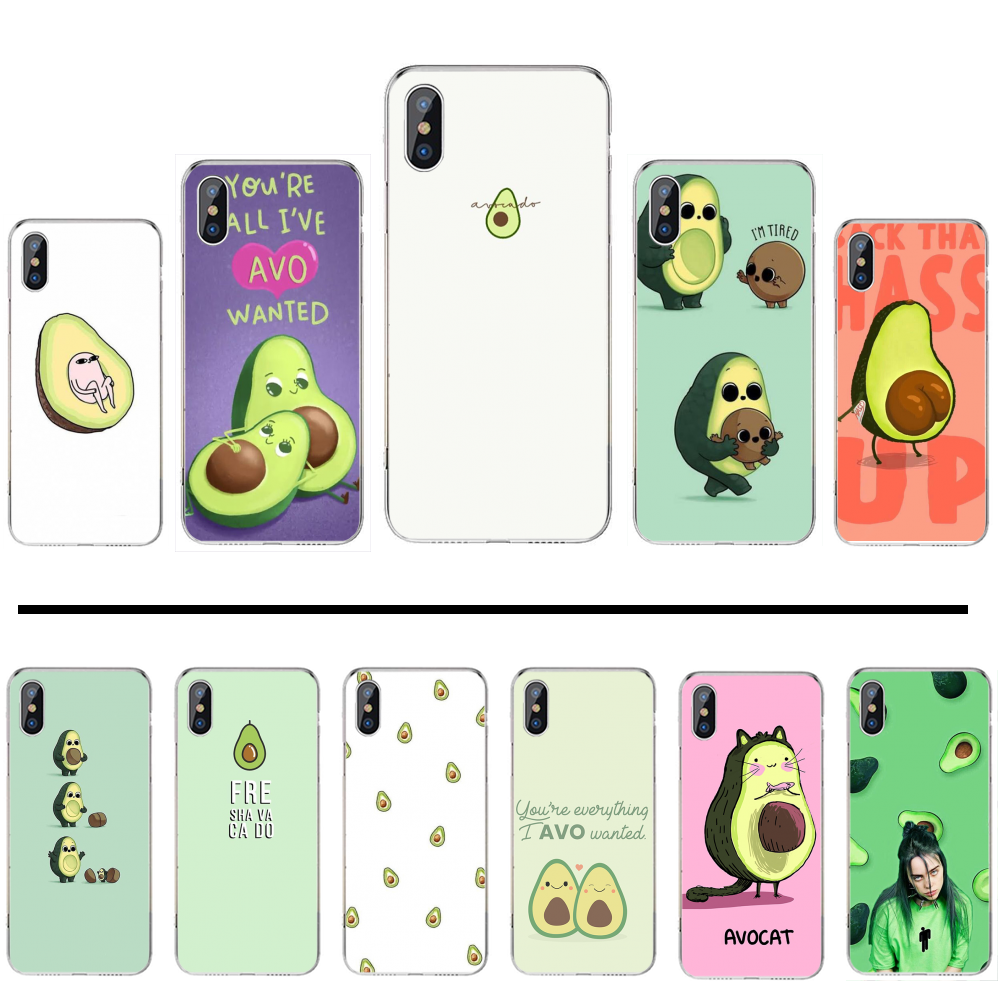 Fruit food cute avocado case Custom Photo Soft Phone Case For iphone 4 4s 5 5s 5c se 6 6s 7 8 plus x xs xr 11 pro max