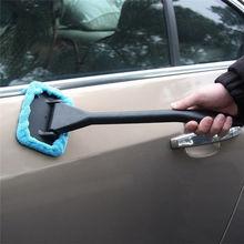 1 шт., светильник, синяя Автомобильная щетка для окон, очиститель стекла, щетка для чистки, инструмент для чистки окон из микрофибры, щетка для стеклоочистителя, аксессуары для автомобиля