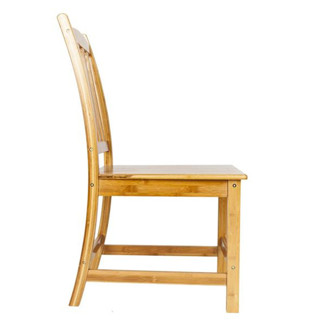 2pcs Bamboo Dining Chairs 3