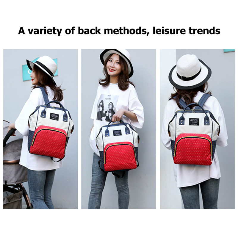 H8fa9889af1ba407a96ceacf479938eecR Large Capacity Mummy Diaper Bags Zipper Mother Travel Backpacks Maternity Handbags Pregnant Women Baby Nappy Nursing Diaper Bags
