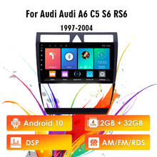 2 Din 9 zoll Android 10 RDS DSP Auto Radio Multimedia Player WIFI GPS Für Audi A6 C5 1997 2004 S6 2 1999 2004 RS6 1 2002 2006