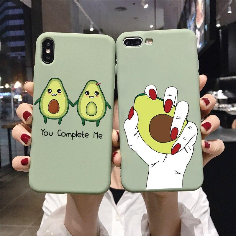 Soft TPU Coque For Samsung Galaxy Note 10 Plus 9 8 5 A50 A9 A8 A7 A6 A5 J8 J6 J4 Plus 2018 J7 J5 Prime J3 2017 Cute Avocado Case