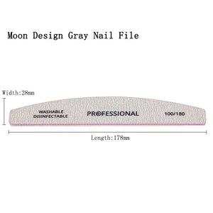 Image 5 - 50Pcs Nail File 100/180 Sanding Buffer Block Grey lime a ongle Professional  UV Gel Polisher Washable Pedicure Manicure Tools