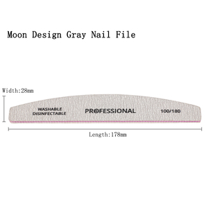 Image 5 - 50Pcs Nail File 100/180 Schuren Buffer Block Grey lime een ongle Professionele UV Gel Polijstmachine Wasbare Pedicure Manicure Gereedschap