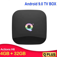 Q MAIS Allwinner H6 6K Smart TV Box Android 9.0 GB GB 32 64 4GB Quad Core USB3.0 h.265 sem fio WIFI 2.4G Set Top Box Mali-T720(China)