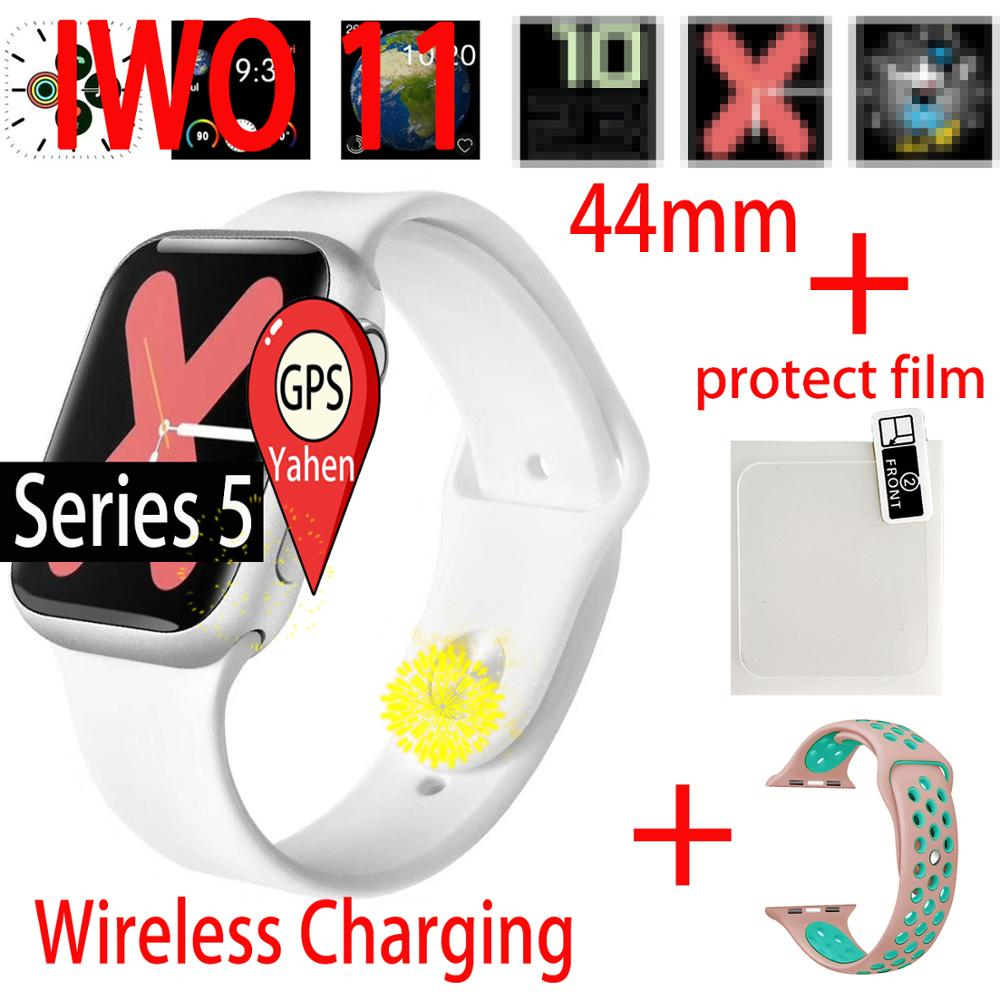 IWO 11 GPS smart watch Man Bluetooth Smartwatch 1:1 44mm Case for Apple iOS Android phone Smart Clock VS IWO 8 IWO 6 9 5 watch image