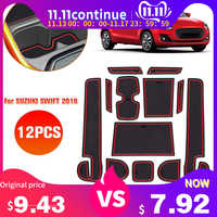 KKMOON 12PCS Car Pad Center Console Mats Anti-dust Non-Slip Interior Door Storage Liner Accessories for SUZUKI SWIFT 2018