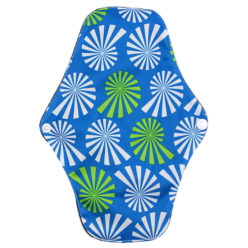 Reusable Sanitary Pads Washable Bamboo Cotton Cloth Pads Serviette Hygienique Cartoon Print Women Menstrual Pads Bamboo Adult