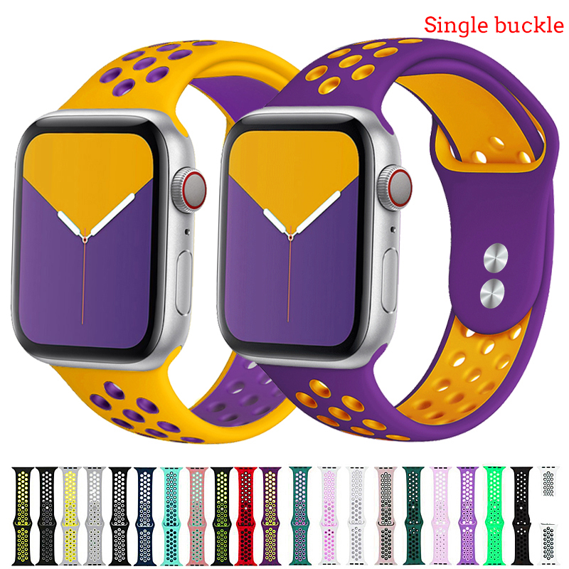 Strap For Apple Watch Band 44 Mm 38mm Iwatch Band 42mm 40mm Silicone Watchband Bracelet Belt Correa Apple Watch 5 4 3 2 1 38 44