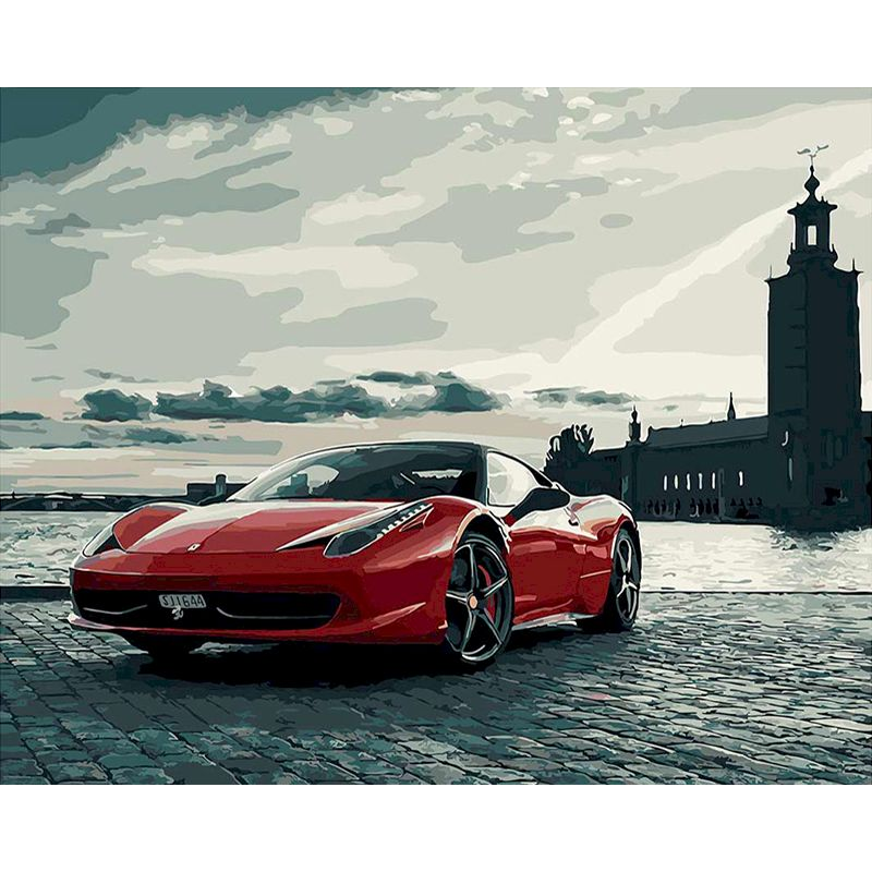 RUOPOTY Ferrari sports car Diy Painting By Numbers Modern Home Wall Art Picture Coloring By Numbers For Home Decors art-0