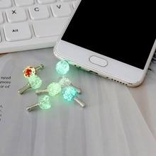Headphone-Stopper Dust-Plug Audio Mobile-Phone for Tablet Luminous-Night-Light