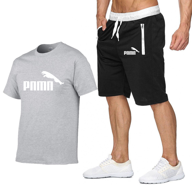 running - Casual Male Tracksuit Clothing Summer Men Set Fitness Suit Sporting Suits Short Sleeve T Shirt + Shorts Quick Drying 2 Piece Set