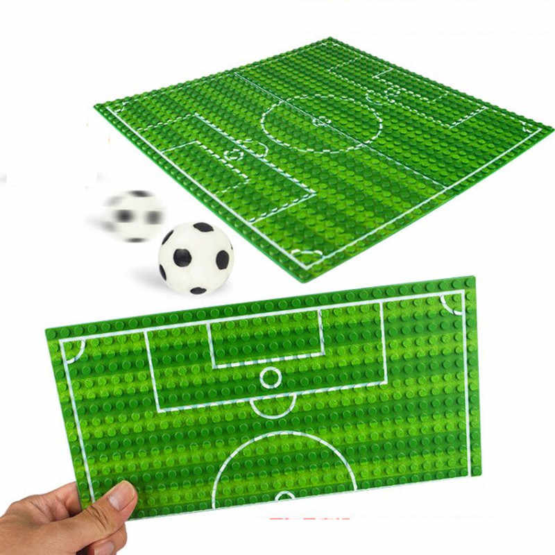 32*16 Football Basketball Base Plate Compatible LegoINGlys Figures Court Baseplate DIY Building Blocks Bricks Toys For Children