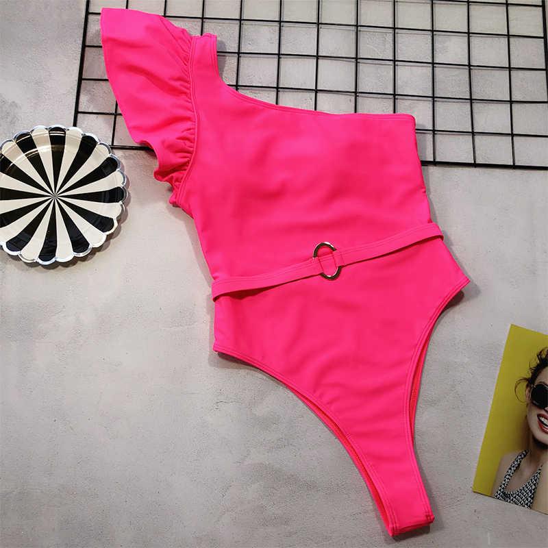 Gợi Cảm Ren Một Mảnh 2019 Một Trong Những Vai Đồ Bơi Nữ Dây Bodysuit Áo Tắm Monokini Chắc Chắn Tắm Biển Phù Hợp Mặc Đi Biển