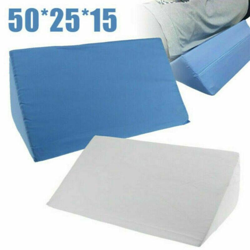 Leg Elevating Wedge Bed Pillow Relief Pain Improve Circulation Sleep Cushion USA