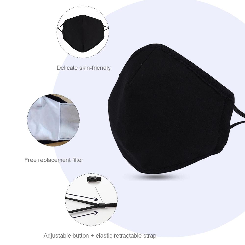 Anti Pollution PM2.5 Mouth Mask Dust Respirator Washable Reusable Masks Five Pcs Activated Carbon Filter Face Masks