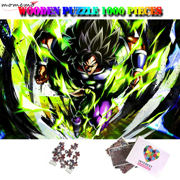 MOMEMO Broly Jigsaw Puzzles 1000 Pieces Wooden Puzzles for Adults Dragon Ball Cartoon Anime Figure Puzzle Toys for Kids Children