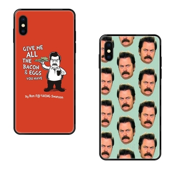 Funny Parks And Recreation For Galaxy S20 S10e S10 S9 S8 S7 S6 S5 edge Lite Plus Ultra The Newest Tpu Black Soft Shell Phone image