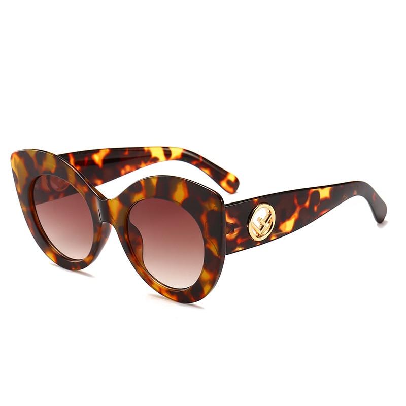 2019 Fashion  Cat Eye Sunglasses Women  Oversized  Luxury Brand  Glasses  UV400  Retro Sun Glasses Oculos De Sol