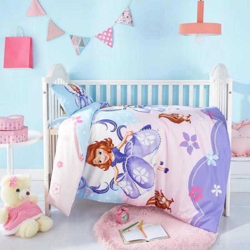 Disney lit bébé parure de lit sofia Minnie Mickey mouse reine des neiges elsa enfants garçon fille doux parure de lit housse de couette taie d'oreiller enfants cadeaux