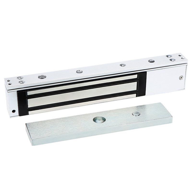 12V Electromagnetic Magnetic Door Lock 280 KG (600 LB) Access Control Holding Force With LED Light