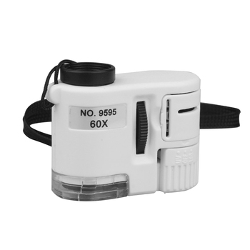 Mikroskop 60X telefon cyfrowy mikroskop z aparatem z oświetleniem LED telefon uniwersalny mobilny obiektyw powiększający makro aparat z zoomem Clip tanie i dobre opinie BSIDE CN (pochodzenie) 500X i Pod NO 9595 Z tworzywa sztucznego PORTABLE Ręczny Wysokiej Rozdzielczości Mikroskop stereoskopowy