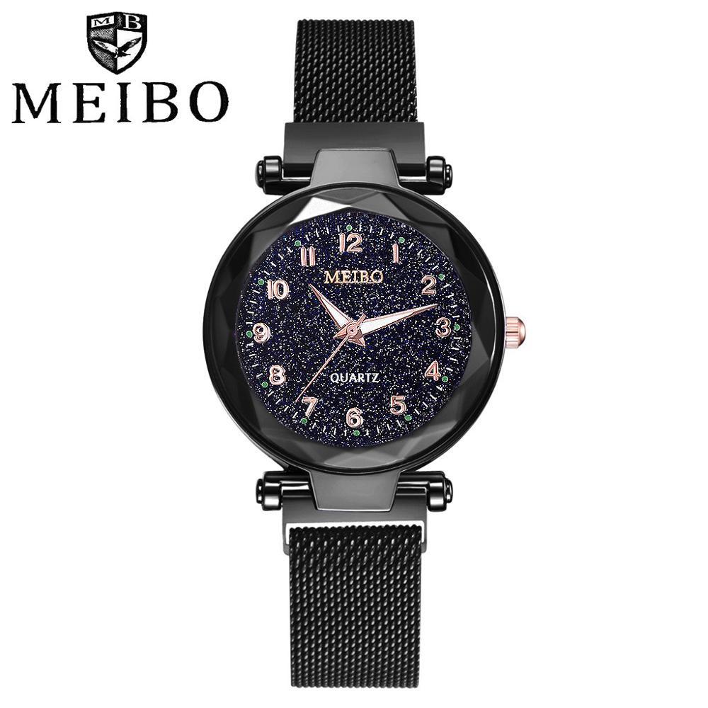 2019 New Ladies Watches Star Sky Steel Magnetic Ladies Bracelet Watch Montre Femme Dress Women's Watch Wrist Watches For Women