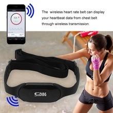 Водонепроницаемый беспроводной монитор сердечного ритма с Bluetooth 4,0, беспроводной пояс для сердечного ритма, для занятий спортом, для подсчета калорий и жира, черный цвет