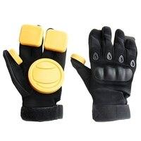 Skateboard Longboard Slide Gloves Downhill Skateboard Gloves With Slider Skate Skiing Gloves     -