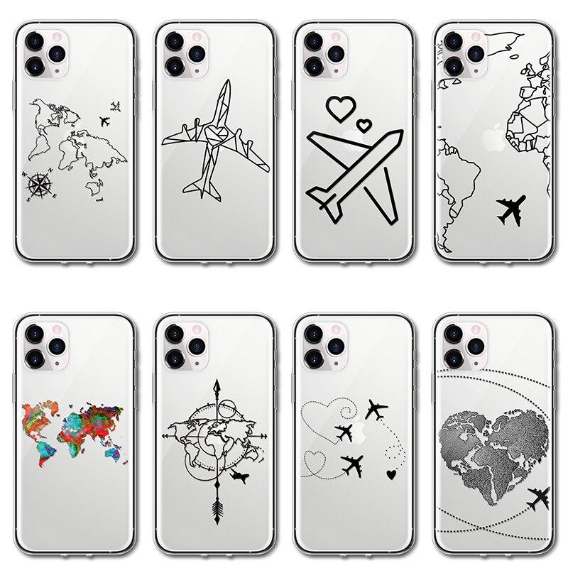 Чехол для телефона для iPhone 11 Pro Max X XS XR Xs Max прозрачный чехол из ТПУ с сердечком для iPhone 4 4S 5 5S SE 5C 6 s 6s 7 8 Plus чехол