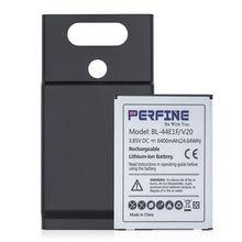 Batterie de remplacement étendue 44e1f 6400mAh pour LG V20 VS995 LS997 H918 H910 H990N, avec coque arrière noire, nouveau