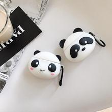 Silicone Earphone Case For AirPods Cute Cartoon panda case Apple Airpods Earbuds Bag Earpods Accessoires