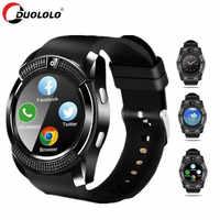 Montre intelligente hommes Bluetooth Sport montres femmes Smartwatch écran tactile montre-bracelet avec caméra/fente pour carte SIM pour téléphone Android