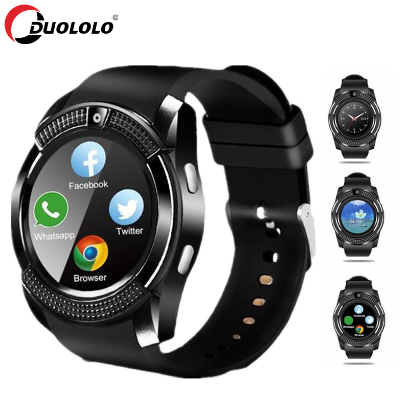 Smart Watch Men Bluetooth Sport Watches Women <font><b>Smartwatch</b></font> Touch <font><b>Screen</b></font> Wrist Watch with Camera/SIM Card Slot For Android Phone image
