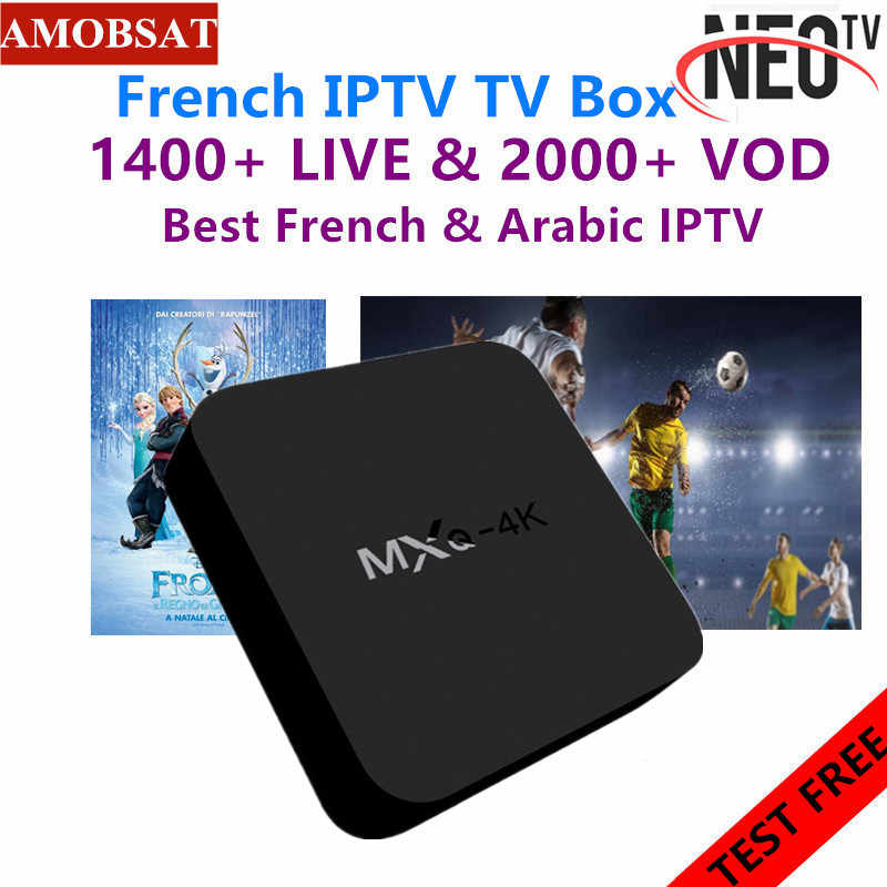 Neotv pro 4K French IPTV subscription Arabic Europe Belgium UK IPTV code Neo one year LiveTV VOD M3U MAG Android Smart TV Box